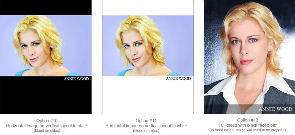 sample 8x10 photo headshot name setups